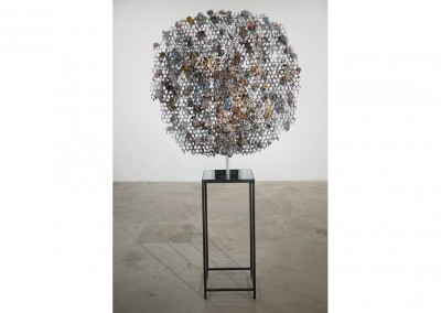<strong>Analyst in Spring</strong> 2012<br>Steel, resin, plaster, pigments, perspex 185x80x40cm