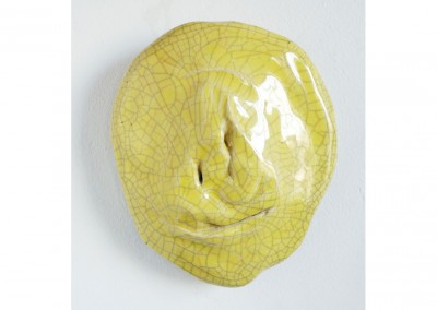 <strong>Yellow Mask</strong> 2010<br>Glazed ceramic 22x18cm