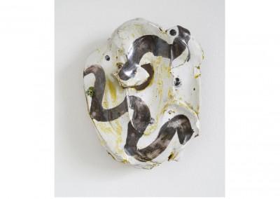 Archaic Mask<br>Glazed ceramic / 19x16cm / 2014