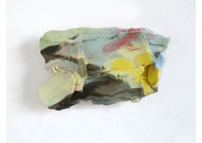<strong>Toxic Landscape</strong> 2014<br>Oil on ceramic 19x12cm