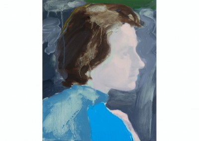 Woman in a Blue Robe<br>Oil on panel / 25x20cm / 2017